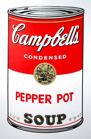 PEPPER POT - CAMPBELL SOUP CAN BY ANDY WARHOL FOR SUNDAY B. MORNING