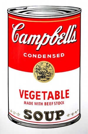 VEGETABLE - CAMPBELL SOUP CAN BY ANDY WARHOL FOR SUNDAY B. MORNING