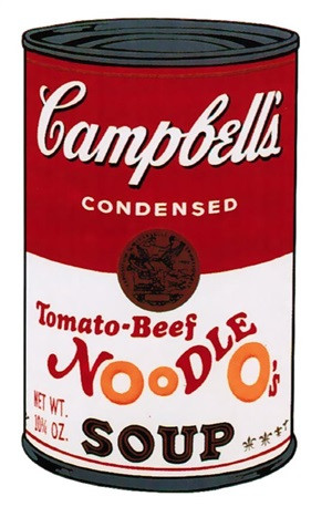 CAMPBELL'S SOUP II: TOMATO-BEEF NOODLE O'S FS II.61 BY ANDY WARHOL