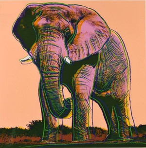 ENDANGERED SPECIES: AFRICAN ELEPHANT FS II.293 BY ANDY WARHOL