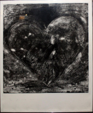 ETCHING HEART (BLACK HEART) BY JIM DINE