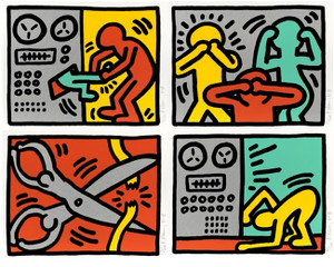POP SHOP III (PORTFOLIO OF 4) BY KEITH HARING