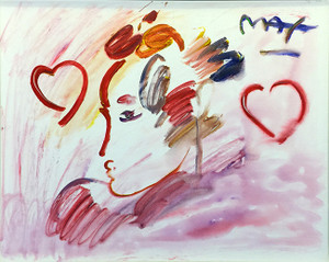 PROFILE HEART BY PETER MAX