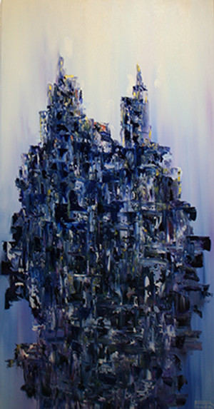 CASCADING BLUE ABSTRACT BY RODRIGO PICADO