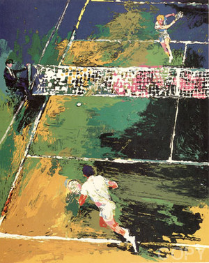 BLOOD TENNIS BY LEROY NEIMAN