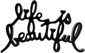 LIFE IS BEAUTIFUL (BLACK) BY MR. BRAINWASH