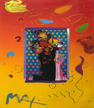 ROSEVILLE (OVERPAINT) BY PETER MAX