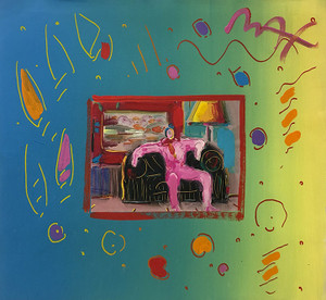 LIVING ROOM (OVERPAINT) BY PETER MAX