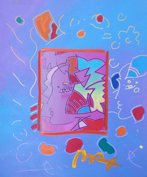PROFILE (OVERPAINT) BY PETER MAX
