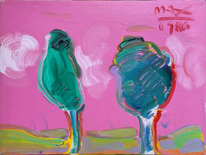 PINK SKY BY PETER MAX