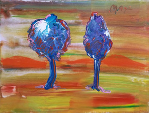 SUNSET III BY PETER MAX