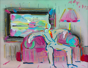 LIVING ROOM (MAN) I BY PETER MAX