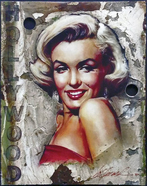 MARILYN (HOLLYWOOD SIGN) BY BILL MACK