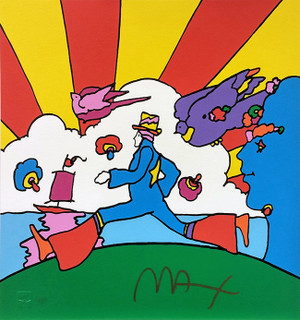 COSMIC RUNNER (1990'S) BY PETER MAX