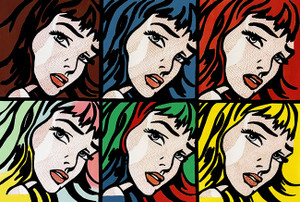 CRYING GIRLS (6) HOMAGE TO ROY LICHTENSTEIN BY STEVE KAUFMAN