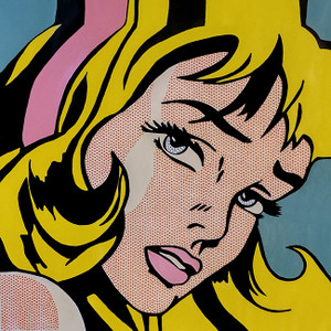 CRYING GIRLS - HOMAGE TO ROY LICHTENSTEIN BY STEVE KAUFMAN