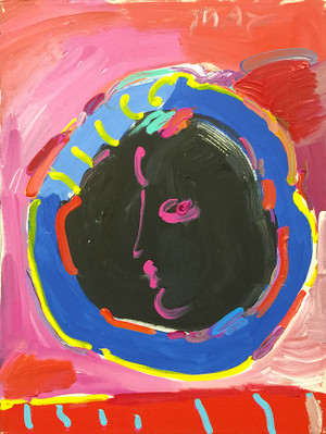 PROFILE (PINK) BY PETER MAX
