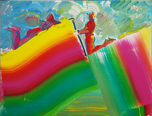 KNEELING MAN (1990'S) BY PETER MAX