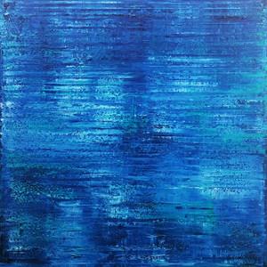 BLUE ABSTRACT (Q32) BY AL RAZZA