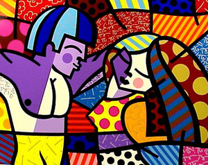 FIRST LOVE BY ROMERO BRITTO