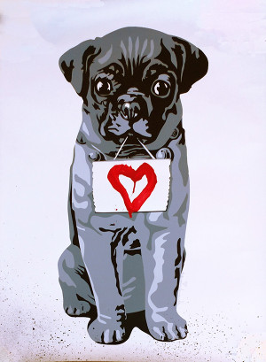 HEART DOG BY MR. BRAINWASH