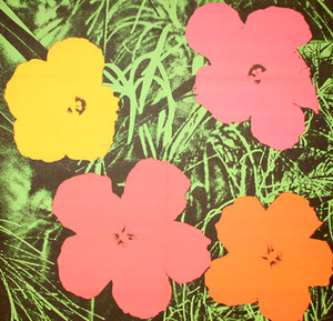 FLOWERS INVITATION BY ANDY WARHOL