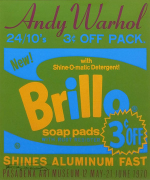 BRILLO EXHIBITION POSTER BY ANDY WARHOL