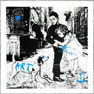 PUP ART (BLUE) BY MR. BRAINWASH