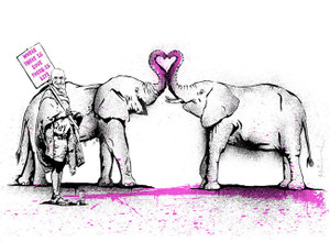 WHERE THERE IS LOVE, THERE IS LIFE BY MR. BRAINWASH
