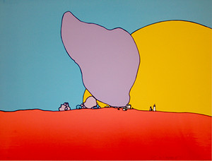 ROCKS AND SUN BY PETER MAX