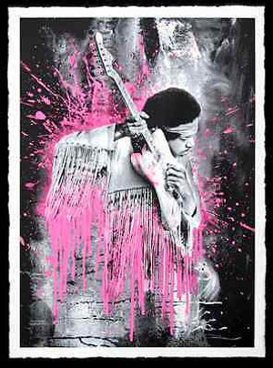JIMI HENDRIX (PINK) BY MR. BRAINWASH