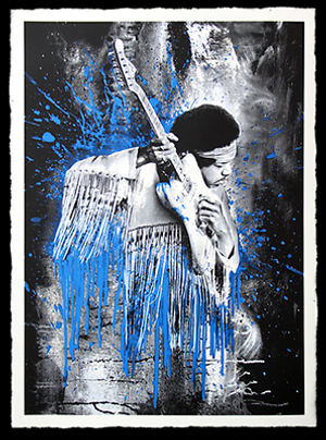 JIMI HENDRIX (BLUE) BY MR. BRAINWASH