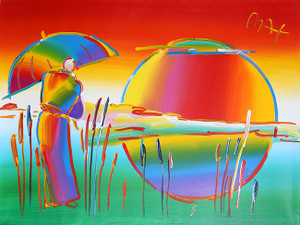 SAGE WITH UMBRELLA (RAINBOW) BY PETER MAX