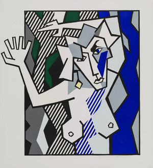 NUDE IN THE WOODS BY ROY LICHTENSTEIN