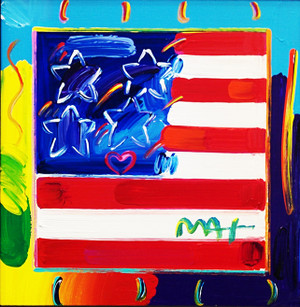 FLAG III BY PETER MAX