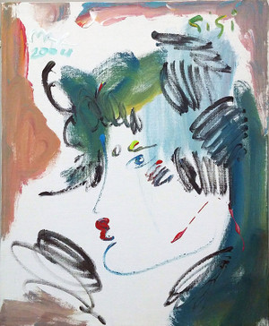 PROFILE (GREEN) BY PETER MAX
