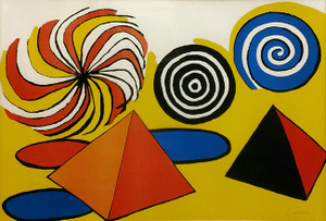 PYRAMIDS AND SPIRALES DE COULEURS BY ALEXANDER CALDER