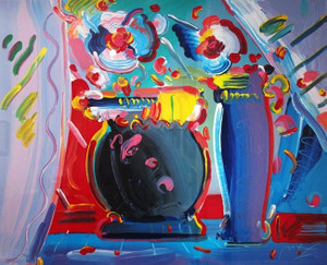 FLOWER BLOSSOM III BY PETER MAX