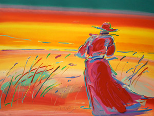 WALKING IN REEDS I BY PETER MAX