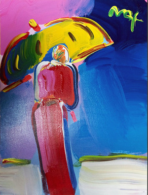 SAGE WITH UNBRELLA BY PETER MAX