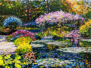 GIVERNY LILY POND BY HOWARD BEHRENS