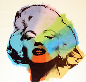 MARILYN - RAINBOW BY STEVE KAUFMAN