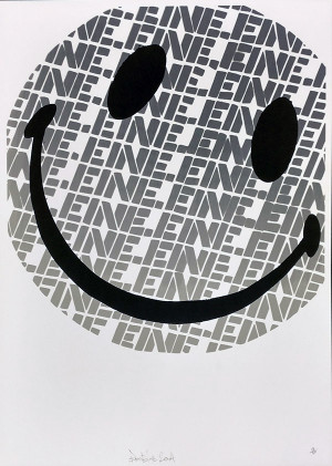 SMILEY (GREY) BY BEN EINE