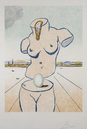 BIRTH OF VENUE BY SALVADOR DALI