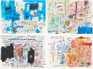 ASCENT, OLYMPIC, LEECHES, LIBERTY 2017 (SET OF 4) BY JEAN-MICHEL BASQUIAT