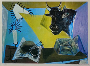 STILL LIFE WITH A BULL'S HEAD BY DOMAINE PICASSO