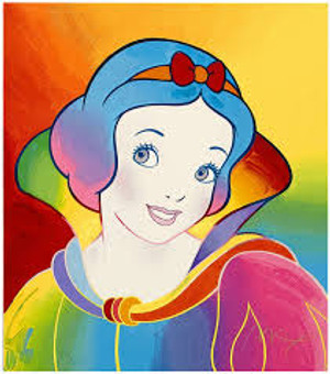 SNOW WHITE BY PETER MAX