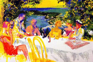WINE ALFRESCO BY LEROY NEIMAN