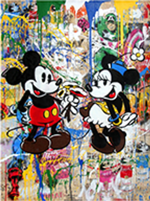 MICKEY & MINNIE (ORIGINAL) BY MR. BRAINWASH