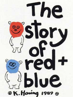 THE STORY OF RED + BLUE BY KEITH HARING
